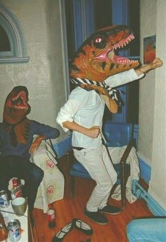 Funny pictures about This looks like an AWESOME party. Oh, and cool pics about This looks like an AWESOME party. Also, This looks like an AWESOME party photos. Sheldon The Tiny Dinosaur, Partying Hard, Cursed Images, T Rex, Wall Collage, Art Inspo, Trippy, Weird, Dope Wallpapers