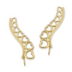 14k Yellow Gold Graduating Hearts of Love Ear Pin Earrings #earpinearrings #sterlingsilverearpins #earringsthatgoup #pinearrings #earpinsjewelry #earpin #earpin #earspirals #earspirals #slideonearrings #climbtheearearrings #wrapearrings #nonpiercedearrings #earcuffs #personalizedbracelets #earcuffs #cuffearrings #cliponearrings #earspiralsearrings #earspiralearrings