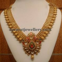 Antique Necklace latest jewelry designs - Page 97 of 330 - Indian Jewellery Designs Pearl Necklace Designs, Antique Necklace, Antique Jewelry, Gold Jewellery Design, Gold Jewelry, Gold Necklaces, Diamond Necklaces, Diamond Jewellery, Statement Jewelry