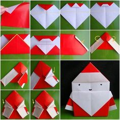Do you keep in mind your first Origami craft? Paper origami crafts are somethings, which remind me f my childhood days. Especially throughout Christmas, I and my brother used to sit down down in our Paper Christmas Ornaments, Handmade Christmas, Christmas Decorations, Santa Christmas, Advent, Diy Paper, Paper Crafts, Paper Flower Garlands, Paper Tree