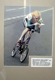 Richard Grimsby Time Trial Racing on a Moulton AM7 1989