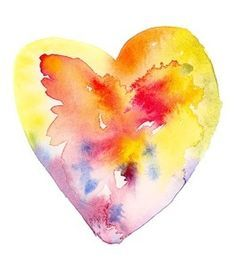 Image result for tattoo watercolor heart