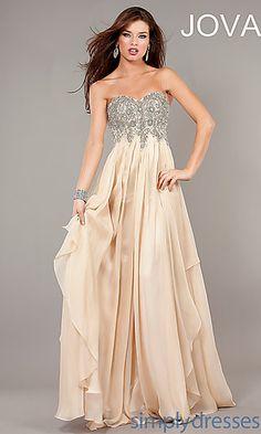 Full Length Strapless Formal Gown