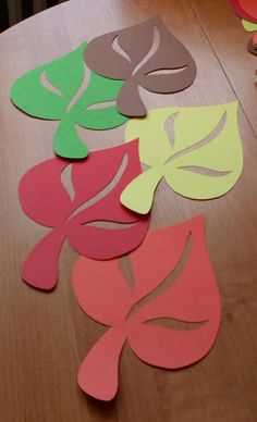 Easy Fall Crafts, Fall Crafts For Kids, Diy And Crafts, Paper Crafts, Sunflower Crafts, Autumn Activities For Kids, Leaf Crafts, School Decorations, Flower Template