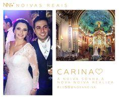 Carina #eusounovanoiva #noivasreais #vestidosdenoiva #noiva #bride #weddingdress #weddingdresses #casamento