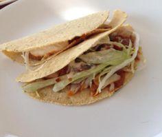 Receita de Tacos de porco com molho vermelho