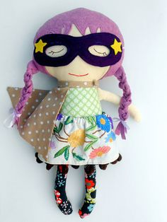 FABRIC DOLL, rag doll, superhero girl, clothdoll, hippie doll, boho doll, dress up doll, soft toy, sensory toy, dolls, dollsanddaydreams, custom doll, play set