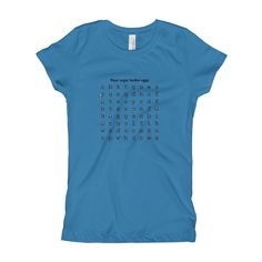 Girl's T-Shirt Word Search Puzzle Tee - Flour Sugar Butter Eggs