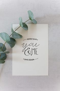 "High quality print with hand lettering illustration ""You and me"", great gift . - High quality print with hand lettering illustration ""You and me"", great gift for lovers / romantic - Valentines Day Gifts For Him, Valentine Day Cards, Valentines Diy, Happy Valentines Day Calligraphy, Best Valentine's Day Gifts, Great Gifts, Valentine's Day Quotes, Fun Wedding Invitations, Valentine's Day Diy"