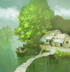 A peaceful day by Vietnamese Artist Dang Can