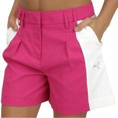 New Puma Women's Golf Colorblock Shorts