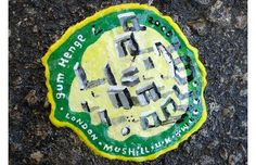 Chewing gum art on the streets by Ben Wilson (see link for more photos!)