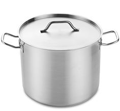 Cooks Standard Professional Grade Stockpot with Lid, 32-Quart, Silver