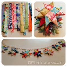 Just a quick post today! You can turn fabric scraps into little origami stars. I made these right before the holidays and the bunting is safely packed away with our Christmas decorations. ...