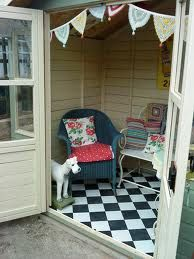 thinking I might need a summer house at the bottom of the garden instead of the rotten and outgrown kids playhouse Summer Sheds, Summer House Garden, Dream Garden, Home And Garden, Summer Houses, Small Summer House, Summer House Interiors, Wendy House, Garden Studio