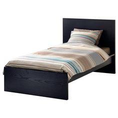 MALM Bed frame, high IKEA Real wood veneer will make this bed age gracefully. Ikea Lit Malm, Cama Malm Ikea, Ikea Design, Cute Bedding, Twin Xl Bedding, Twin Beds For Sale, Camas Twin, Malm Bed Frame, Bed Frames