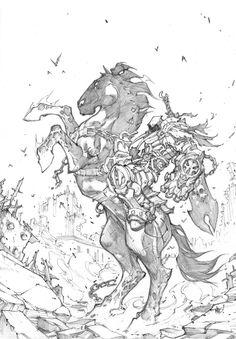 Darksiders sketch by Joe Madureira