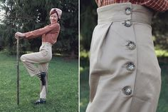 1940's Farmerette Trousers made with Wearing History's Homefront Overalls Pattern #sewing #1940s #WWII