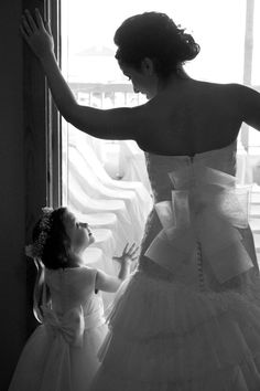 Bride and Flower Girl... me and my daughter... Love it!