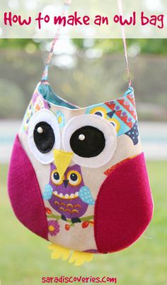 How to make an owl bag for kids, easy tutorial