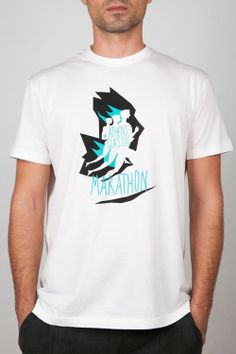 Men T-Shirts : Man White Tee - Graphic Design