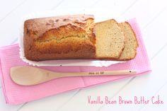 Vanilla Bean Brown Butter Cake