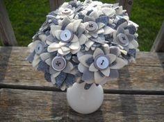 felt & button bouquet