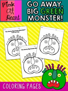 GO AWAY BIG GREEN MONSTER COLORING PAGES FREEBIE