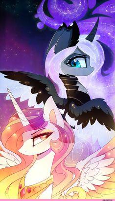 Princess Luna,принцесса Луна,royal,my little pony,Мой маленький пони,фэндомы,Princess Celestia,Принцесса Селестия,mlp art,MagnaLuna,artist