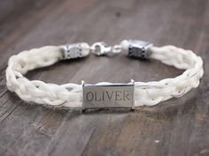 Personalized Horse Hair Bracelet with Name Cowgirl by SHDStudios