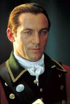 "Jason Isaacs in the ""The Patriot."" He is such an evil ass in this movie but gotdamn if he isn't insanely hot."