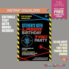 Image result for free editable laser birthday invitation templates