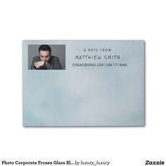 Photo Corporate Frozen Glass Blue Post-it® Notes