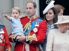 Queen Elizabeth II, Royals, Prince George, Prince William, Ducess of Cambridge, Catherine, Trooping of the Colour