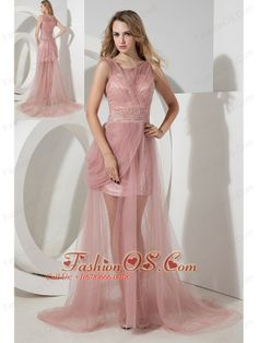 Bateau Belt and Champagne For Prom Dress With Mini-length- $98.79 ...