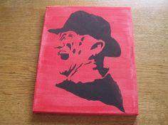 Freddy Krueger painting