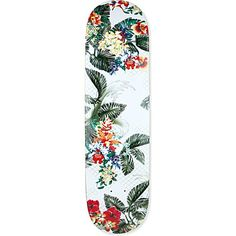 PHILLIP LIM Tropical-print skateboard deck This is one of my favorite that ive pinned so far. I really just like the tropical pattern that it has. Also love the white background