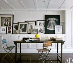 Avedon's iconic 1957 portrait of Marilyn Monroe, siren of the silver screen, rests on a ledge in the New York City home of Brooke Shields | archdigest.com