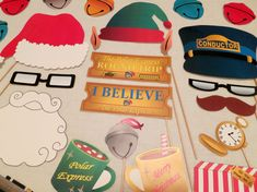 PDF Polar Express Photo Booth Props Printable by chelawilliams