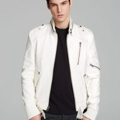 13 White Leather Jackets For Men | Patterns Hub