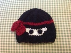 Tiny Warrior - Little Ninja Hand-Knit Baby Hat in Black