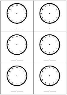 Telling the Time Blank Clock Template | Homeschool | Pinterest ...