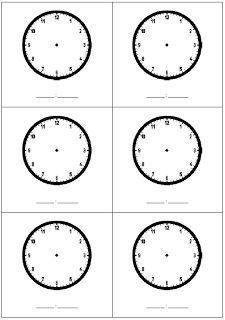 Printables Blank Clock Face Worksheet Printable telling the time blank clock template homeschool pinterest representational abstract sequence of instruction when introducing or remediating a new concept includes free sheet with b