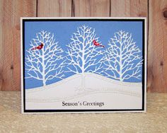 Ann Greenspan's Crafts: Red, White and Blue Christmas card