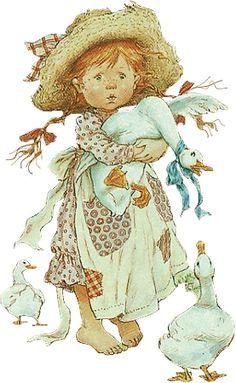 Goose by Sarah Kay Haute-cour Holly Hobbie, Vintage Pictures, Cute Pictures, Sara Kay, Vintage Drawing, Cute Illustration, Vintage Children, Cute Art, Paper Dolls