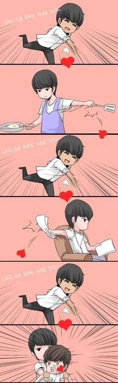 N-omma never give up to express his love to Leo-appa ♡ VIXX