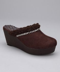 Take a look at this Coffee Winter Clog by Honey Bee on #zulily today!