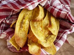 Layer 2 baking sheets with parchment paper. Lay out each plantain slice in a single layer, and then sprinkle with salt, pepper, and garlic p...