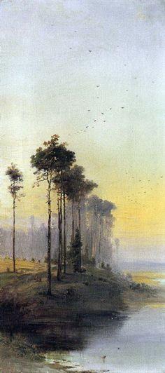 Пейзаж с соснами. Алексей Кондратьевич Саврасов