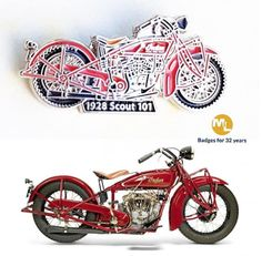 Another in an ever increasing range of Indian motorcycle badges, this one of the most complex, nickel plated detailing with high fill soft enamel supplied to Matt, Chairman of the Indian club Germany (Don't mention the football team! Name Badges, Pin Badges, Make Your Own Badge, Indian Clubs, Custom Badges, Football Team, Charity, Fill, Enamel